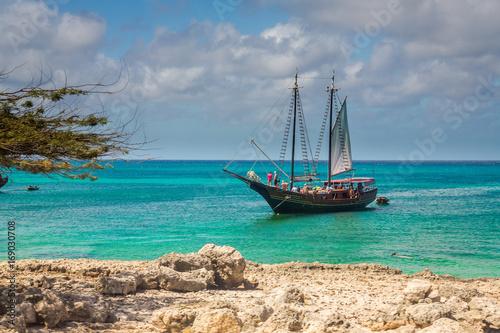 Obraz na plátně Aruba Coastal Scenery, Caribbean