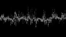 PNG Alpha Digital Waveform Equalizer HUD 3d Illustration
