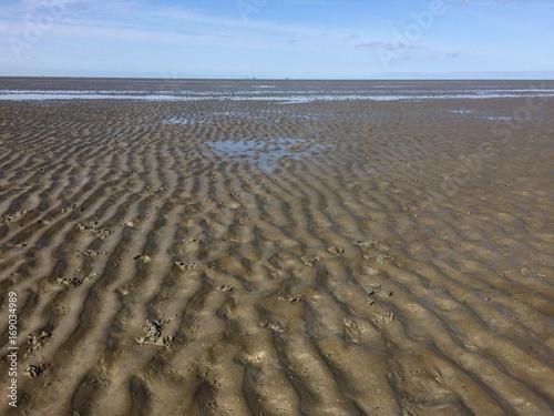 Meerseboden der Nordsee bei Ebbe / Watt bzw. Wattenmeer