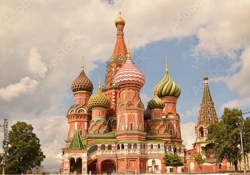In de dag Moskou Храм Василия Блаженного в Москве