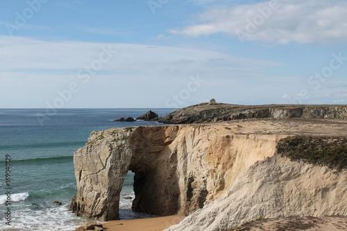 Fotografie, Obraz  Arch of Port Blanc on the Wild Coast of Quiberon, Brittany, France