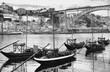 Porto black and white skyline