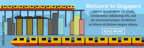 Welcome to singapore banner horizontal concept Poster