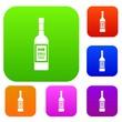 Bottle of vodka set collection