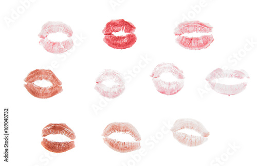 Fotografie, Obraz  lips with lipstick mark