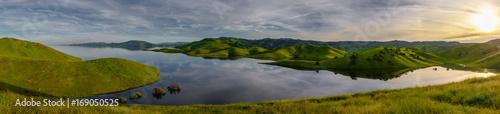 Fototapeta san luis reservoir - sunset panorama obraz na płótnie