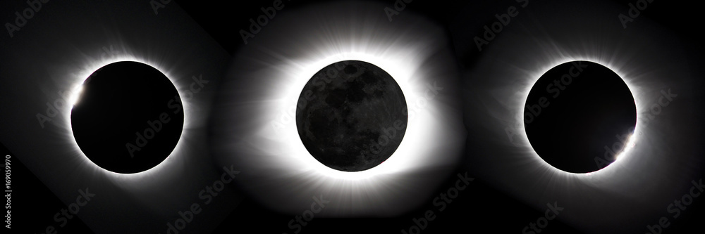 Photo  Compostie photo of 2017 Great American eclipse
