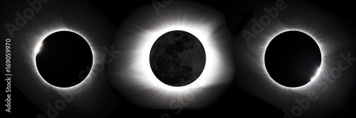 Compostie photo of 2017 Great American eclipse Poster