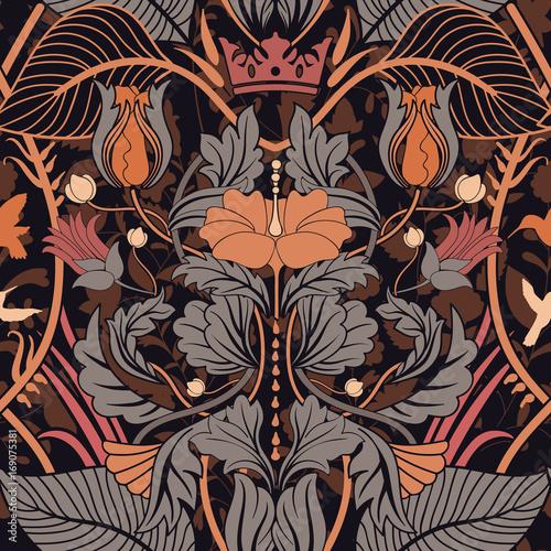 kwiecistego-rocznika-bezszwowy-wzor-styl-retro-roslin-pionowe-dekoracyjne-kwiaty-nowoczesny-motyw-kolorowy-ornament-adamaszku