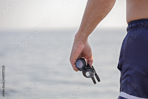 Preparing for swimming, sport activity Canvas Print