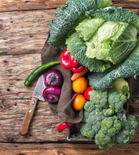 Harvest Of Rural Cabbage