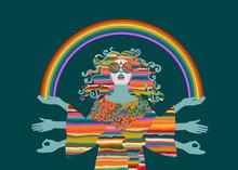 Psychedelic Hippie Woman, Godd...