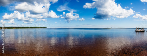 Fotografia, Obraz  Panorama of Ladoga lake in summer Sunny day