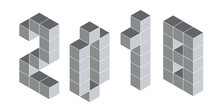 2018 Digits From Isometric Cubes