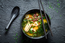 Hot And Tasty Miso Soup With S...