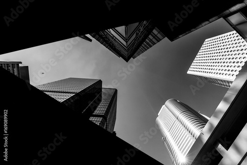 Garden Poster City building Hong Kong Architecture Black And White