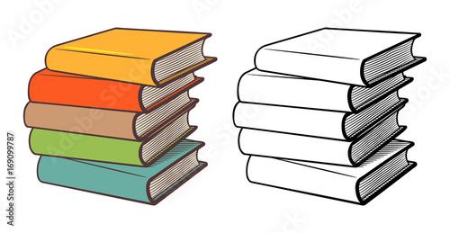 Fotografie, Obraz  Stacks of books