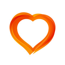 Beautiful Orange Heart