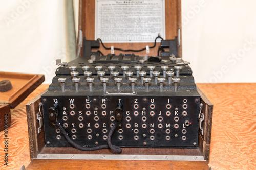 Photo  The Enigma Cipher Machine from World War II