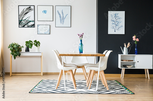 Fotomural  Dining room in scandi style