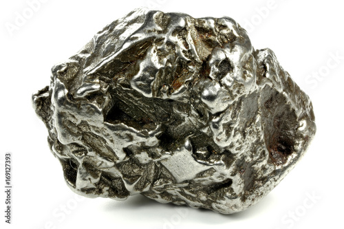 fragment of the Campo del Cielo meteorite isolated on white background