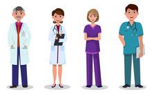 Team Of Doctors And Nurses On ...