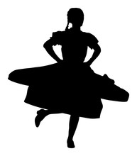 Csardas Dancer Vector Silhouet...