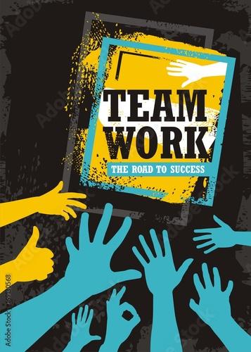 Fotografija  Teamwork business banner design