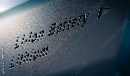Photo Li-ion Lithium Battery Pack Close Up
