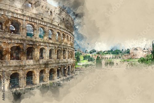 Rome sightseeing - the amazing Colosseum Wallpaper Mural