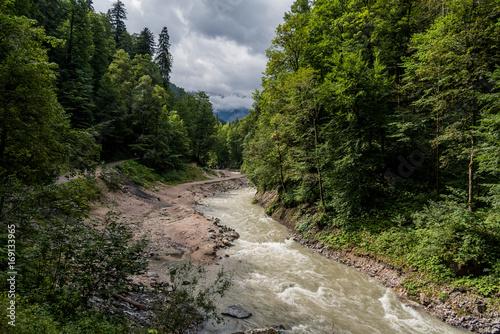 Fotobehang Olijf Partnachklamm, Garmisch-Partenkirchen, Germany in summer