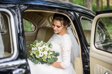Handsome Gorgeous Bride In Whi...