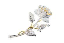 Flower Broochs On White Backgr...