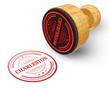 Charleston red grunge round stamp isolated on white Background