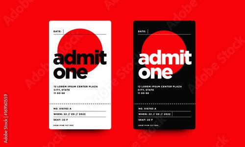 Photo Event Ticket Admit Card Design
