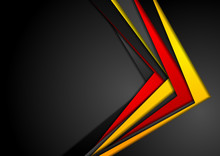 Abstract Red, Orange And Black Corporate Background