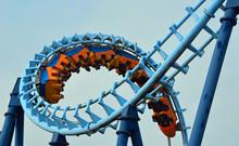 Roller Coaster  Ride Filled  ...