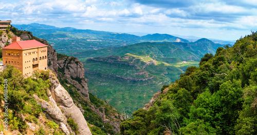 Landscape in Montserrat, Catalonia Spain Wallpaper Mural
