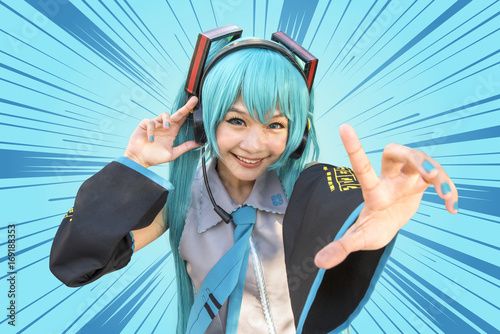 Photo  Japan anime cosplay , cartoon women