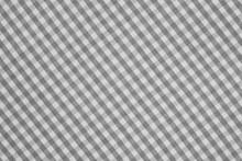 Gray And White Checkered Fabri...