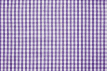 Violet And White Checkered Fab...