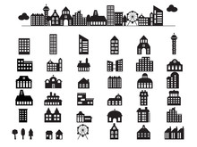 Building Illustration Silhouet...