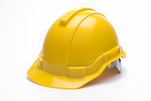 Yellow Safety Helmet Isolated ...