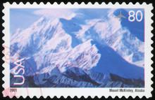 US Postage Stamp - Mount McKin...