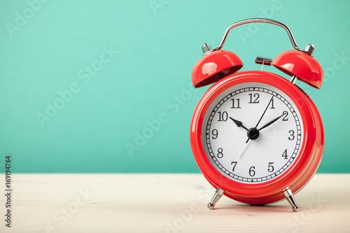 Red alarm clock Canvas Print