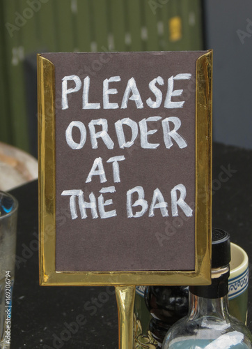 Photo  please order at the bar