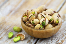 Pistachios With And Without Sh...