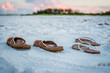 Sandals and Seashells at the Beach