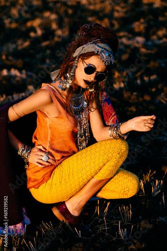 Poster Gypsy bohemian boho girl