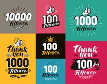 Thank You, Followers Banner. N...